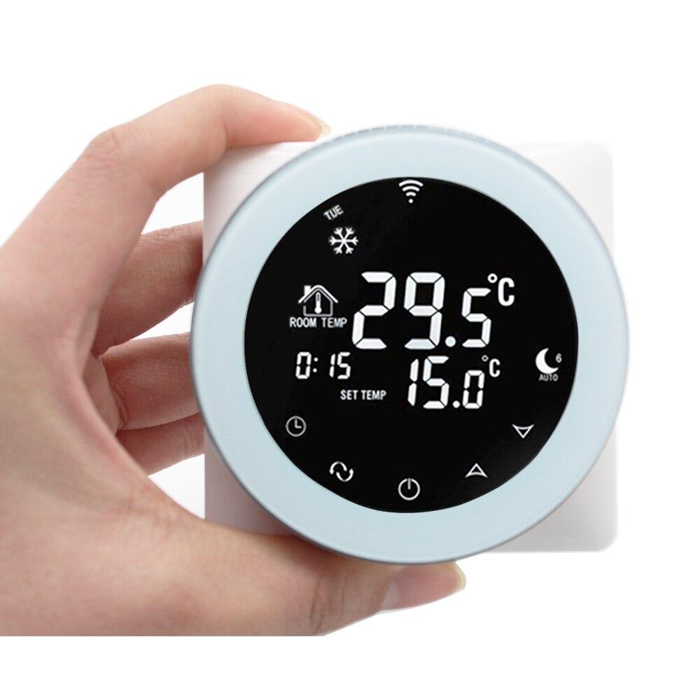 Thermostat tactile Wifi chauffage électrique 16A Alexa Programmable numérique Google accueil LCD écran intelligent commande vocale Thermostat