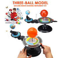 Model Science Toy Solar System Orbit Learning Planetarium Model Educational Track Toys Cool Plastic Novelty Geography Teaching