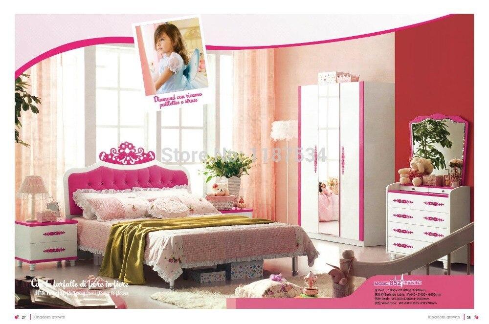 852# Modern style children bedroom set furniture wooden bedroom ...