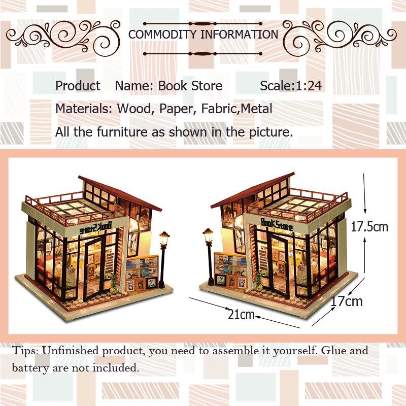 Diy miniatura de madera muñeca casa muebles Kits juguetes hechos a ...