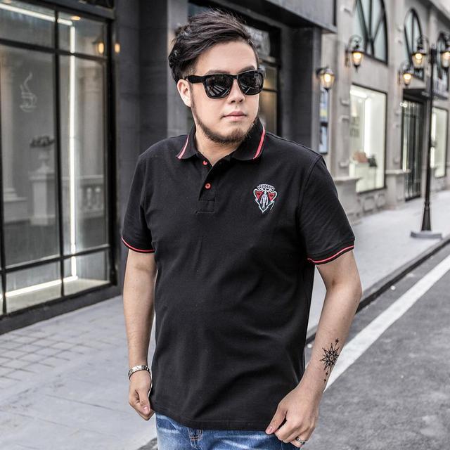 Breathable 2016 Summer New Fashion Mens Polo Short Sleeve XXL-7XL Camisa Polo Masculina Plus Size Polo Shirt Men High Quality