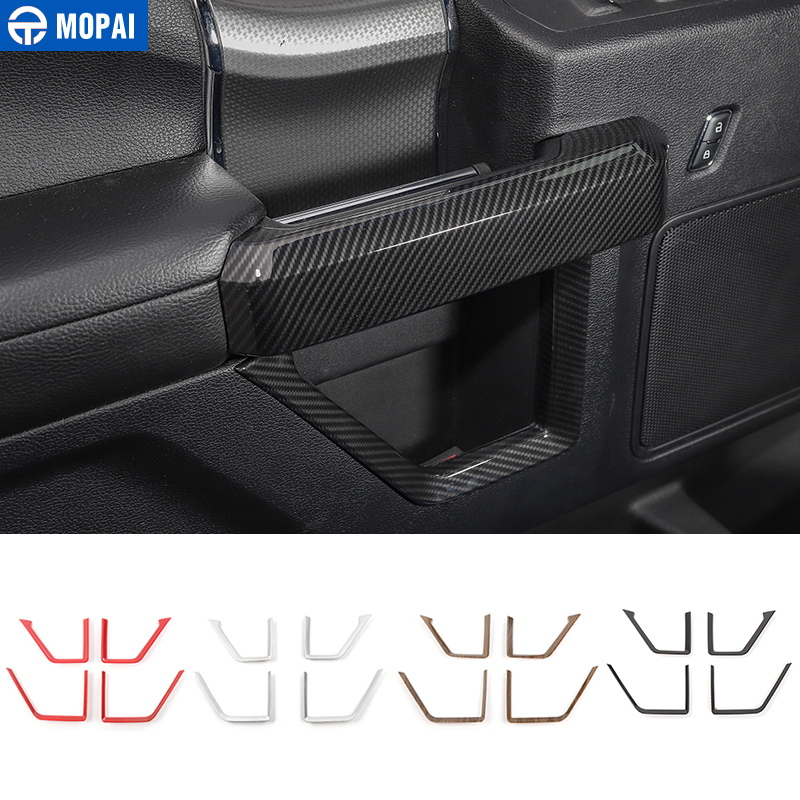 MOPAI ABS Car Interior Door Inner Handle Panel Strips Decoration Trim Cover Stickers For Ford F150 2015 Up Car Styling interior door window glass lifter switch armrest cover car styling stickers for ford explore 2015 abs chrome car accessories
