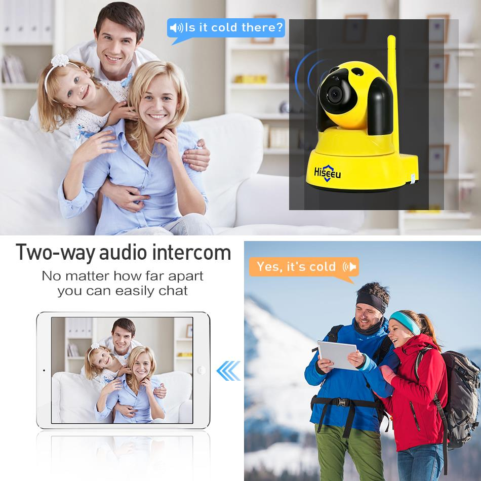 Image 3 - hiseeu Home Security IP Camera Wi Fi Wireless Smart Pet Dog wifi Camera video Surveillance 720P Night CCTV Indoor Baby Monitor-in Surveillance Cameras from Security & Protection