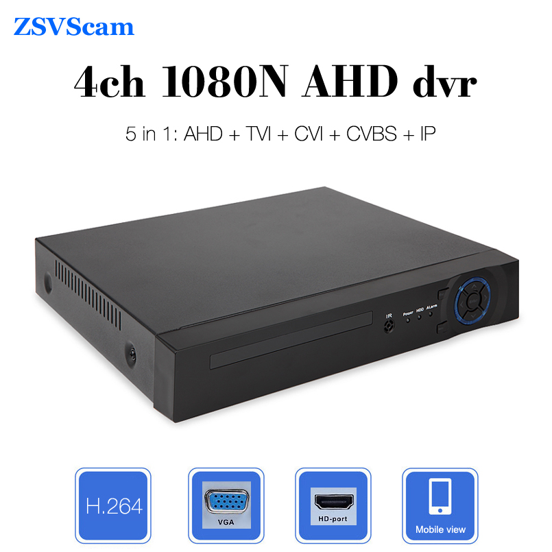 Surveillance CCTV Analog AHD dvr 1080N 4ch VGA HDMI Output p2p Onvif Hybrid 5 in 1 Security Digital Video Recorder 5 in 1 security cctv dvr 4ch ahd 1080n h 264 hybrid video recorder for ahd tvi cvi analog ip camera onvif hdmi 1080p output