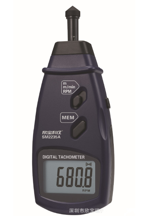 Portable Contact Tachometer which test Surface Speed High RPM Meter Speed SM2235A
