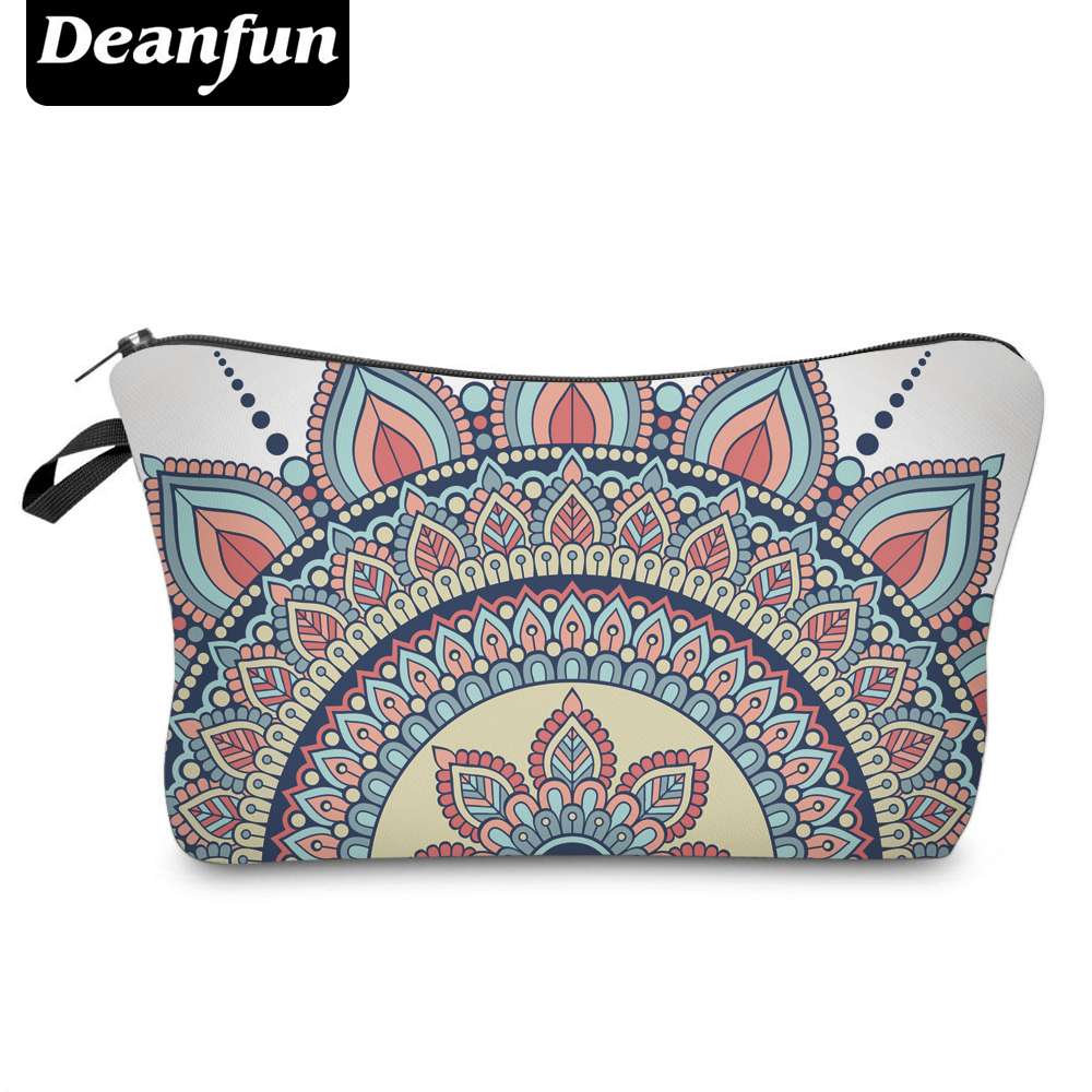 Deanfun 3D Printed Vintage Cosmetic Bags Flower Pattern Women Travel Necessaries For Storage 50965