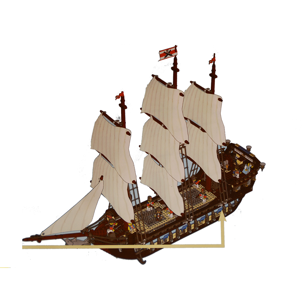 22001 Pirate Ship Imperial warships Model Building Kits Block DIY Briks Toys Gift 1717pcs Compatible 10210 bmbe табурет pirate