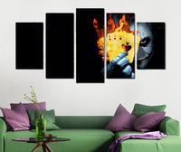 5 Painéis Wall Art Decor Pintura Joker Poker Fogo Cartaz Cópia da arte Do Cartaz Moderno Impressão Giclée Arte Decorativos de Parede Peças arte