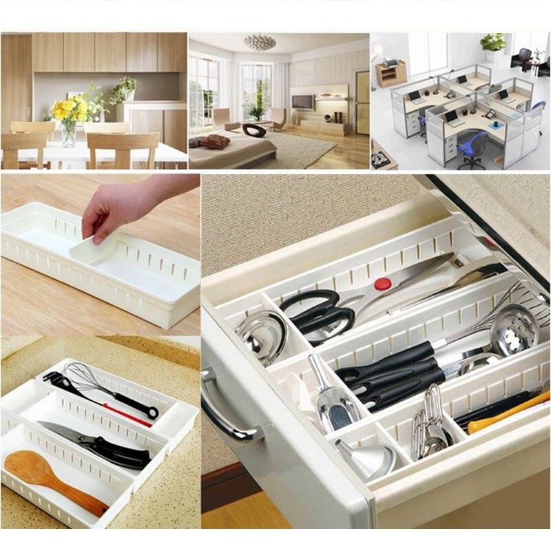 Wonderful Hot Adjustable Home Drawer Storage Organizer Kitchen Partition Divide  Cabinet Box(China)