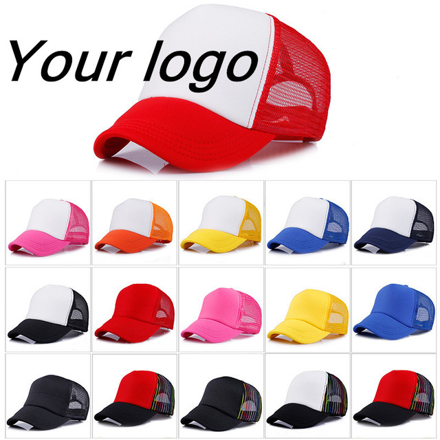 Factory Price! Free Custom LOGO Design Cheap 100% Polyester Hats Children Adult Baseball Cap Blank Mesh Adjustable Hat Men Women