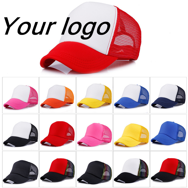 Factory Price! Free Custom LOGO Design Cheap 100% Polyester Hats for children Baseball Cap Blank Mesh Adjustable Baseball Hat