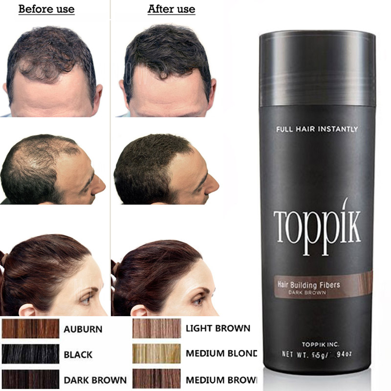 Hair Fibers Keratin Thickening Spray Toppik Hair Building Fibers Loss Products Instant Wig Regrowth Powders Hair Loss Products toppik hair building fibers powder 27 5g spray lock 118ml pump to fix with hair fibers on your hair fibers have 9 colors