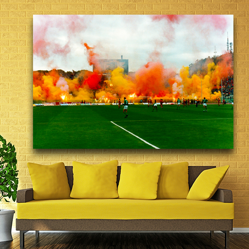 New fashion football canvas Paintings Wall Art Painting 1 pcs living ...