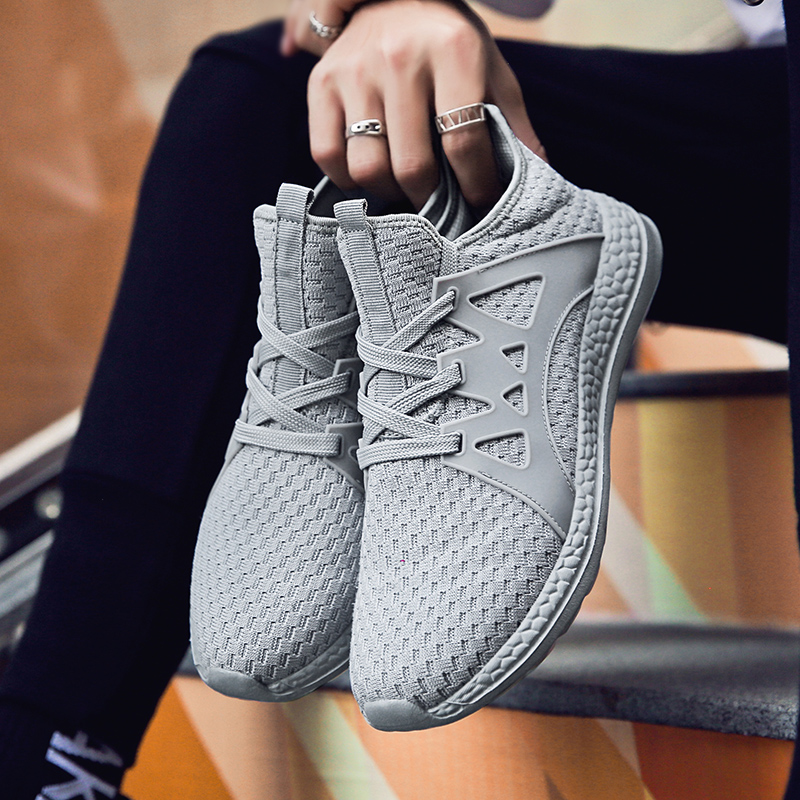 Hot Sale New Arrival Man Athletic Outdoor Breathable Sports Shoes and Sneakers Badminton Shoes Size 36 47 Zapatos De Hombre in Running Shoes from Sports Entertainment