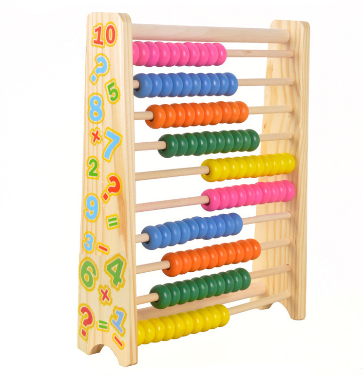 Mini Wooden Abacus Children Early Math Learning Toy Numbers Counting ...