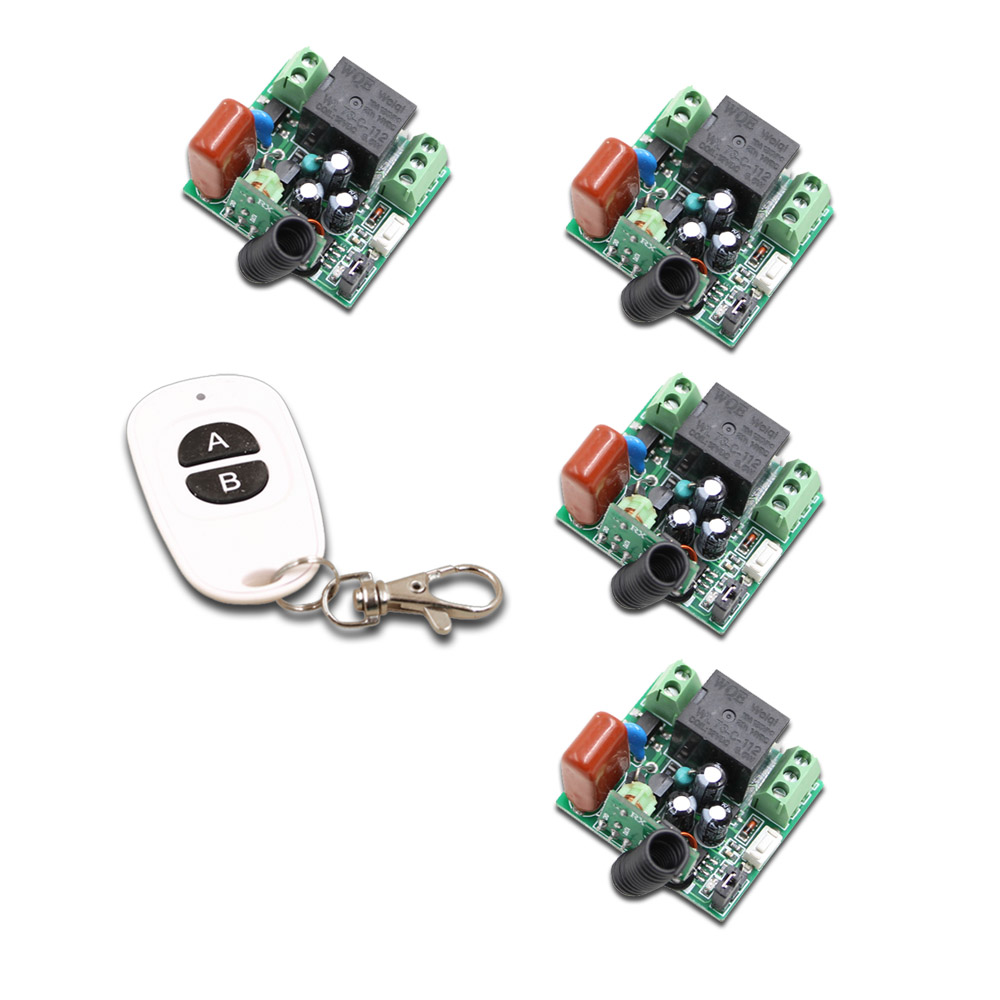 High Quality New 220V 10A 1 Channel Wireless Relay Remote Control Switch RF Mini Receiver Input Output 220V 315/433MHZ