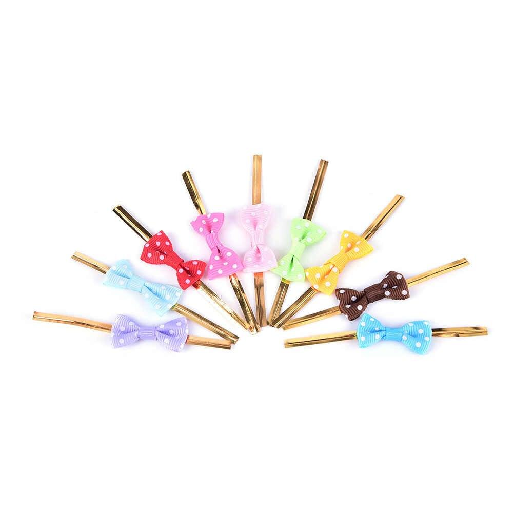 20 Pcs 8 Kleuren Metallic Twist Draad Tie Strik Stip Banden Voor Bakkerij Candy Cake Bag Geschenken Wikkelen Diy bruiloft Decoratie