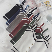 Summer Women Fashion Slim Knitting Striped Tank Crop Tops Camises Girls Knitted Camisole Solid Tee shirts Camis FL117