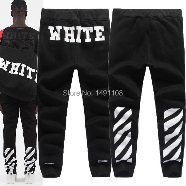 074cca7d079a Brand Off white 13 PYREX skinny jogger street pants slim fit hip hop sport  trousers west jogging harem sweatpants for man cotton