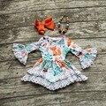 2016 девушки летние платья детей одевает девушки лиса платье новорожденных девочек кружева платье партии дети бутик осень платье с accessoreis
