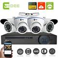 Cnhidee 1080N AHD DVR de 4 Canales con AHD 720 P Seguridad 1200TVL 4ch Sistema de cámaras De video vigilancia cctv dvr hdmi 1080 p de salida