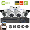 Cnhidee 4 Channel 1080N AHD DVR with AHD 720P 1200TVL Security camera System 4ch video surveillance cctv dvr hdmi 1080p output -