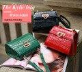 A2066 Genuine leather bag ladies 2017 crocodile pattern Women messenger bags handbags women famous brand designer high quality