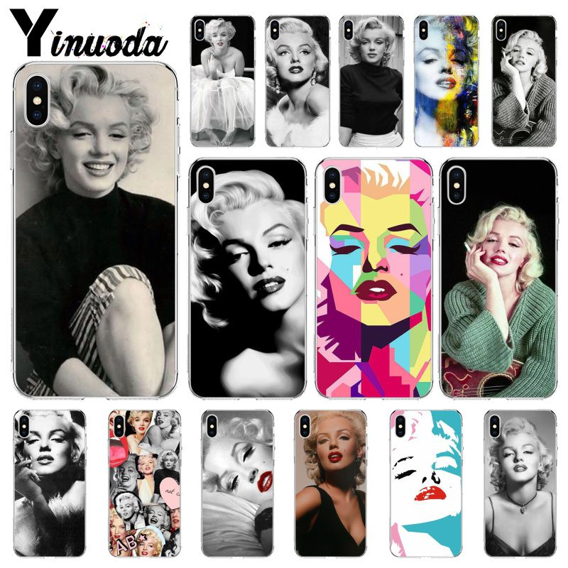 Yinuoda <font><b>Sexy</b></font> Girl Marilyn Monroe Novelty Fundas Phone <font><b>Case</b></font> Cover for Apple <font><b>iPhone</b></font> 8 7 6 <font><b>6S</b></font> Plus X XS MAX 5 5S SE XR Mobile Cover image