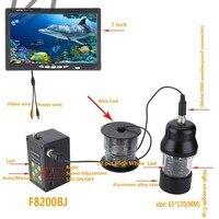 2018 Новый 7 ''30 М HD 1000TVL подводный Рыболокаторы 22 шт. светодиодный DVR рыбалка видео Камера комплект