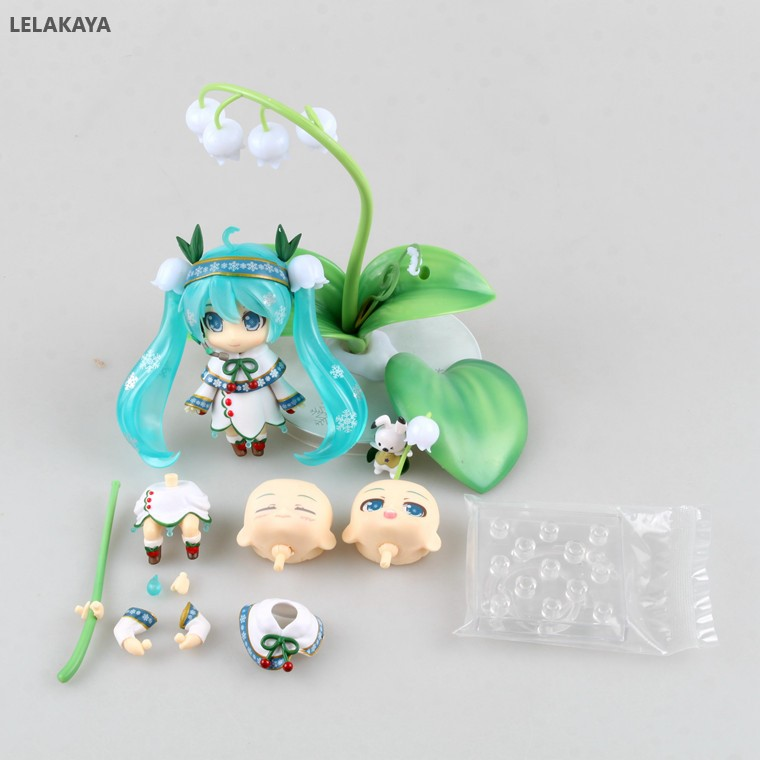 10cm-anime-action-figure-vocaloid-nendoroid-493-font-b-hatsune-b-font-snow-miku-lotus-leaf-snow-bell-ver-pvc-model-collection-doll-brinquedos