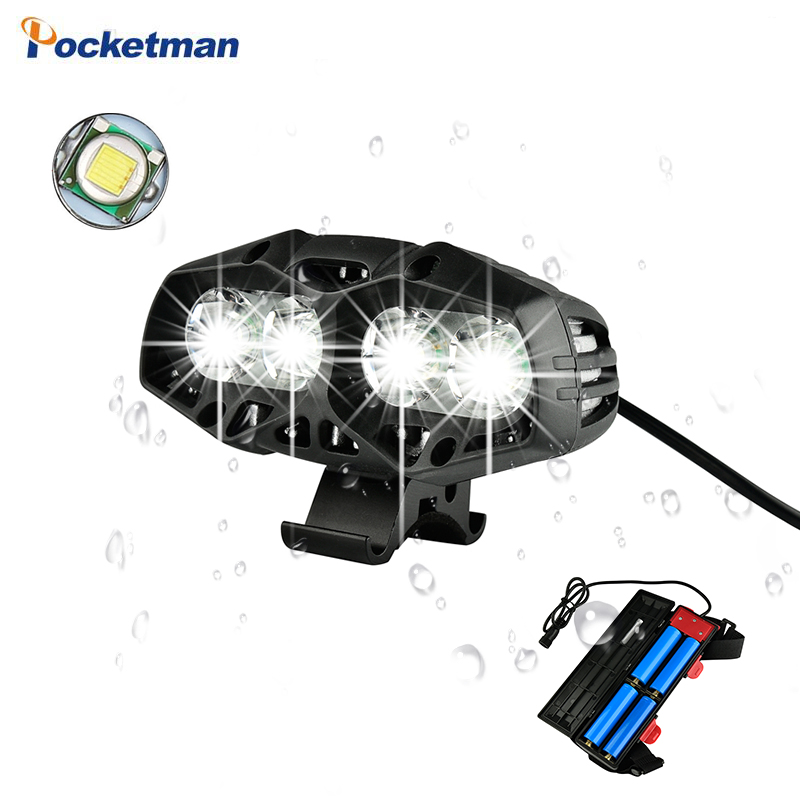 8000Lumen 4*T6 LED Bicycle Light  Flashlight Torch Waterproof USB Rechargeable Bicycle Accessories Powerful By 18650 Battery