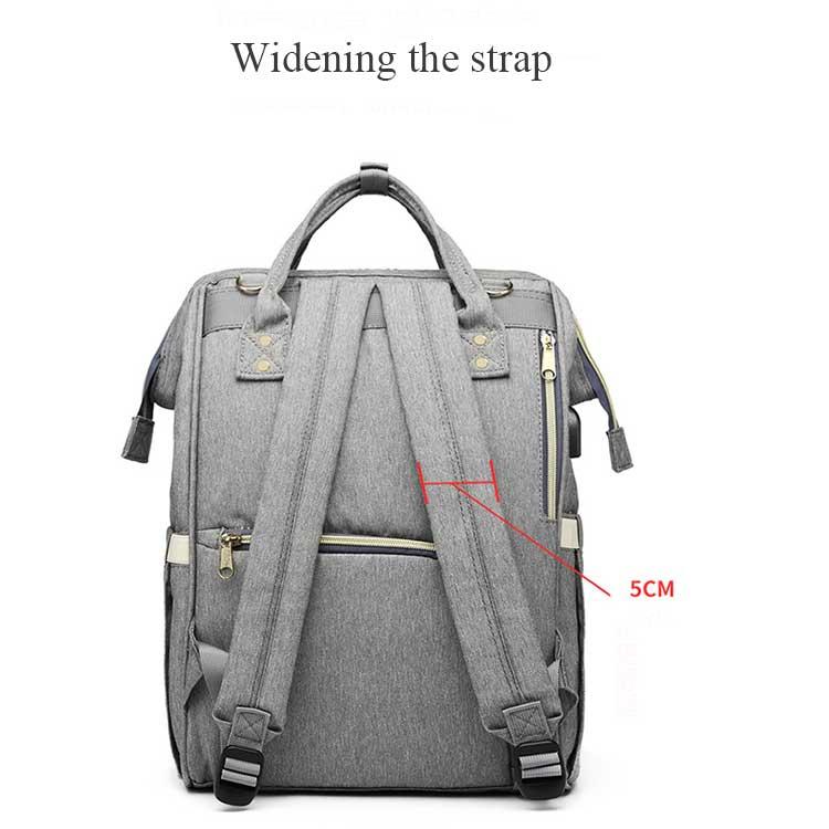 HTB1j.JsPbvpK1RjSZFqq6AXUVXaT Lequeen USB Mummy Maternity Nappy Bag Brand Large Capacity Baby Bag Travel Backpack Designer Nursing Bag for Baby Care