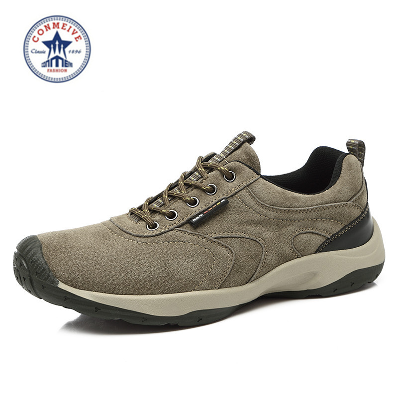freeshipping outdoor hiking shoes scarpe uomo sportive sport climbing senderismo sneakers men randonnee suede lace-up