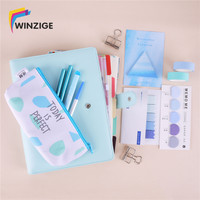 A5 Colored Spiral Notebook With Filler Papers Pens Tapes Stickers Overvalued Stationery Set Package School Student