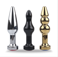 New product, stainless steel metal anal plugs  prostata massager for man toys