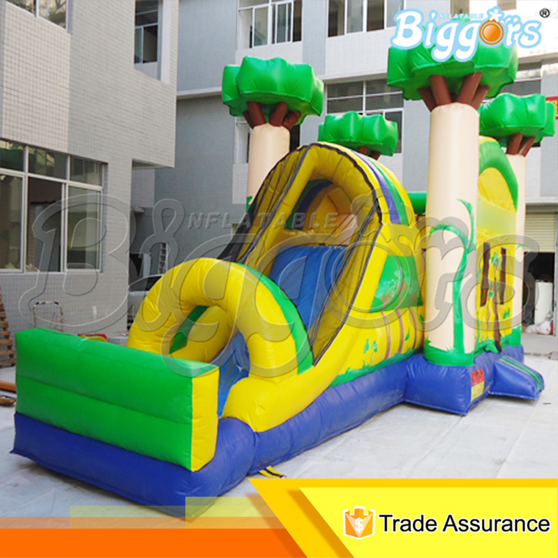 Jungle Tree PVC Material Inflatable Bounce House Bouncing Combo with Slide froggy builds a tree house