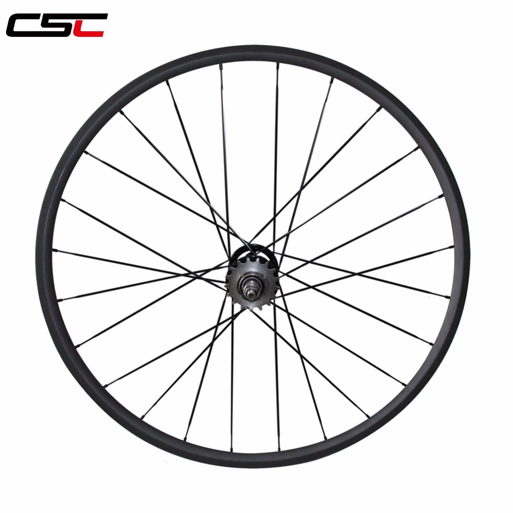 single front or rear Carbon Track bike wheels 24 38 50 60 88mm Clincher Tubular Flip