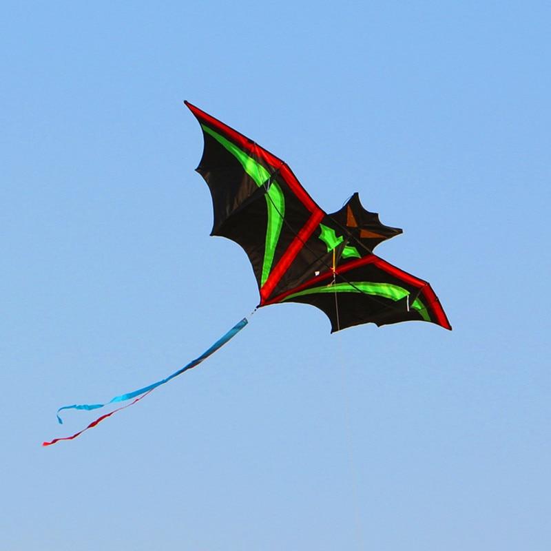 Transport gratuit de înaltă calitate lilieci de lilieci frumoase în briza de cer ușor de zbor cu kite mâner linie wei kite fabrică
