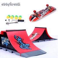 1 PCS Skate Park Fingerboard Finger Skateboard Ramps A F For Deck Finger Board Ultimate Parks