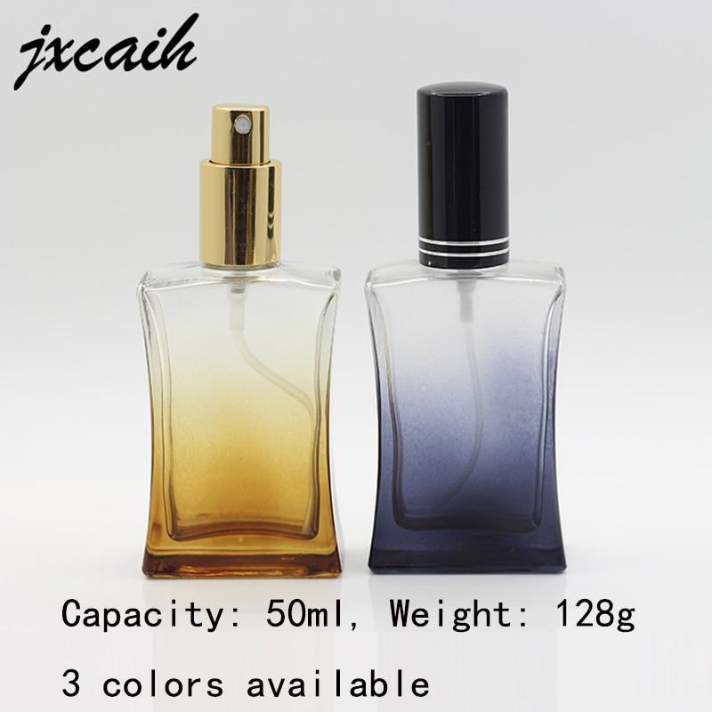 jxcaih 50ml Metal Sprayer Pump Bottle Glass Refillable Perfume Bottle Empty Packaging Caseglass Perfume Bottles With Spray цена
