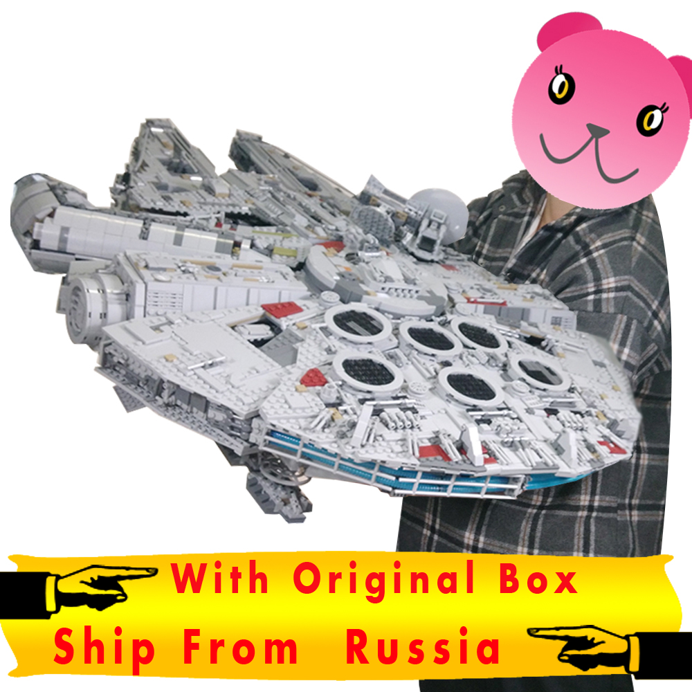 Star Wars Lepin Millennium Falcon Ultimate Collector Series 05132 Ship From Russia for Free 2-8 Day Get Order With Box