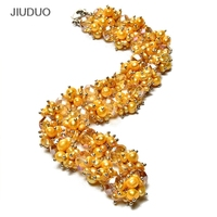 Premium Gem Pearl Necklacef Women Chains Popular Pearl Jewelry For Necklace Yellow Crystal Gem Silver Bracelets