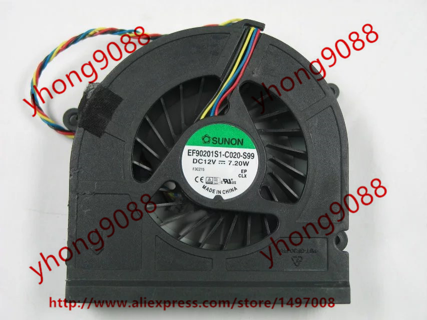Free Shipping For SUNON EF90201S1-C020-S99 DC 5V 2.25W 4-wire 4-pin connector Server Laptop Fan free shipping for sunon eg50040v1 c06c s9a dc 5v 2 00w 8 wire 8 pin server laptop fan