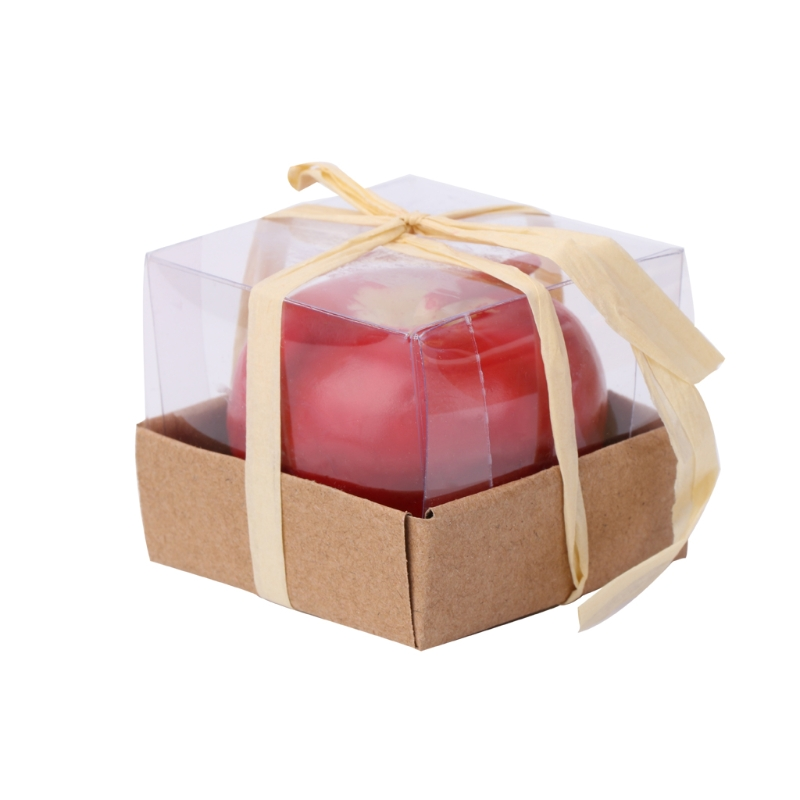 Emulational Apple-shaped Fragrant Candle Christmas' Eve Parties Gifts Small Size W16 Drop ship
