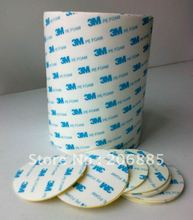 3M Double Sided PE Foam Tape white color 1600T we die cut to 20MM*30m 10rolls/lot we can offer other size