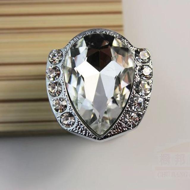 Heart Shape Twinkling K9 Crystal Furniture Drawer Pulls Bright ...