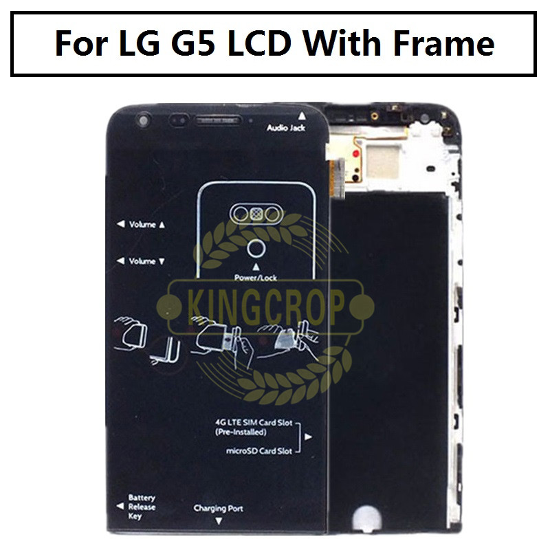 """Image 2 - 5.3"""" new for LG G5 LCD H850 H840 RS988 with Frame Replacment Screen for LG G5 SE LCD Display Touch Screen H830 H860-in Mobile Phone LCD Screens from Cellphones & Telecommunications"""