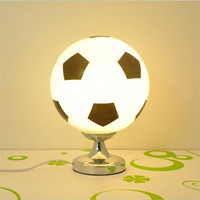 Table Lamps Glass Lamp Shades Football For Boys Room With Shade Bedside Ball Bed Led Children'S Light Lampara Abajur Para Quart