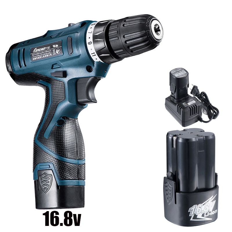 16.8V Electric Drill Tool with Battery Screwdriver Battery Rechargeable Screw Gun Electric Cordless Drill Power Tools upt 32007d portable electric screwdriver screw gun power tools parafusadeira with 2pcs electric screwdriver head
