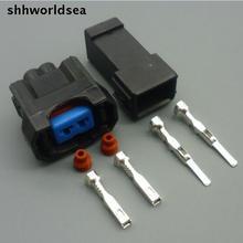 Shhworldsea 5/30/100 компл. 2.2 мм Мужской Женский 2Pin 1996-2002 для Honda Accord Keihin OBD2 NH1 Инжектор топлива электрический разъем